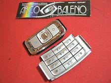 RICAMBIO TASTI TASTIERA per NOKIA N95 N95-1 2GB COVER GUSCIO KEYPAD SILVER
