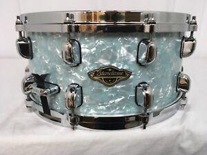 "CoopéRative Tama Starclassic Noyer/birch 14"" Dia.x 8"" Deep Snare Drum/ice Blue Pearl/neuf-afficher Le Titre D'origine"