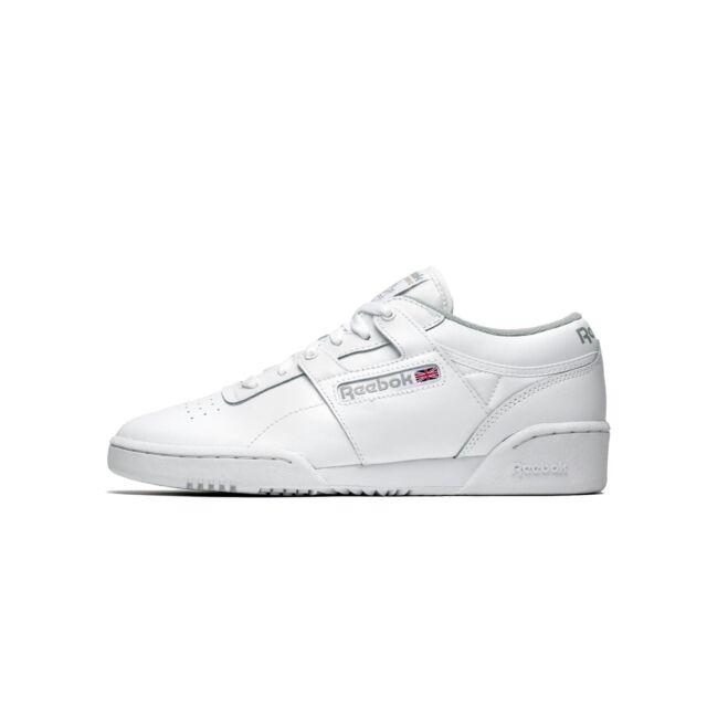 b5866602ba77 Mens Reebok Workout Low White Grey Cn0636 US 10 for sale online