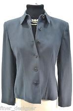 Jones New York suit jacket button lined Career dress Blazer grey Coat Top 8P VTG