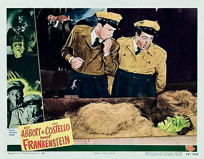 AWESOME CLASSIC ABBOTT AND COSTELLO MEET FRANKENSTEIN IN COFFIN  8X10 a
