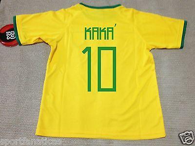 KAKA # 10 BRASIL SOCCER BRAZIL JERSEY YOUTH KID KIDS Training