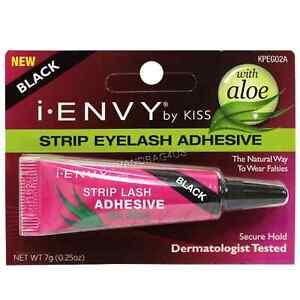 a4caf2fea20 KISS iEnvy Strip Eyelash Adhesive with Aloe, Black 0.25 oz (Pack of ...