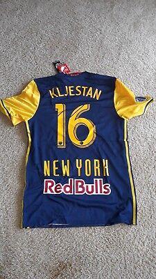 new styles 465d3 a6a1f 2016/17 Adias NY Red Bulls Authentic Jersey Sacha Kljestan #16 Blue Men's L  | eBay