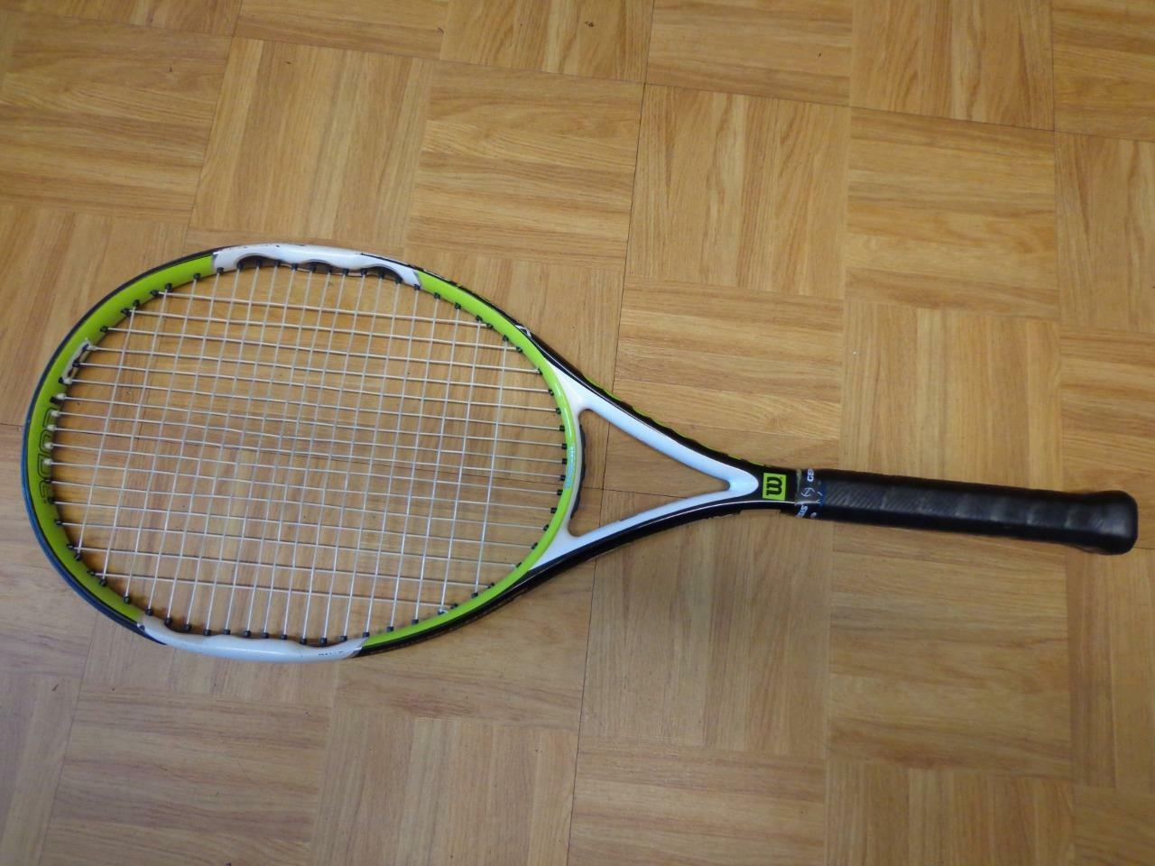 Wlson Ncode Pro Open X 27.5 inches 100 head 4 5/8 grip Tennis Racquet