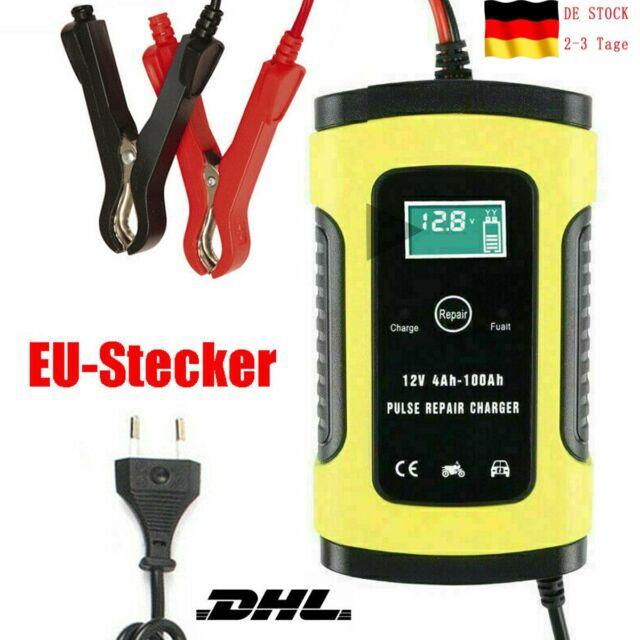 Intelligentes PKW Autobatterie Ladeger?t 12V 5A 4-100Ah Charger Motorrad DHL