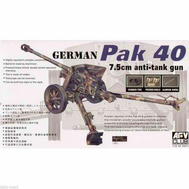 AFV Club 1//35 AF35071 WWII German Pak 40 7.5cm Anti-Tank Gun
