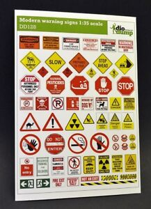 DioDump-DD128-Modern-warning-signs-1-35-scale-printed-diorama-accessories