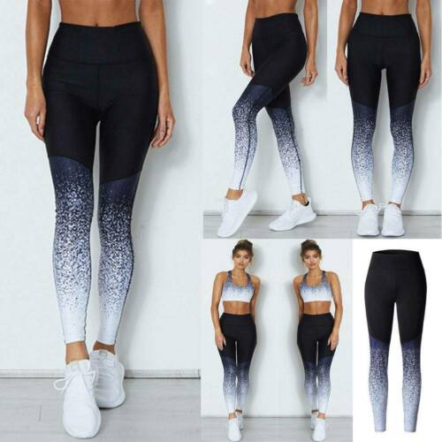 Details about  /Women Yoga Leggings Fitness Sports Exercise Training Workout Gym Pants Trousers