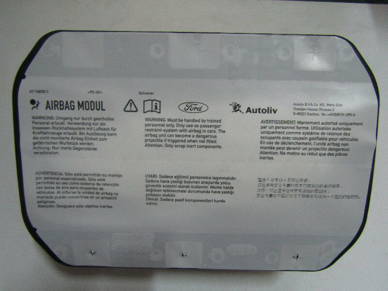 FORD FOCUS 2011 ON FRONT LEFT SIDE DASH AIRBAG MODULE