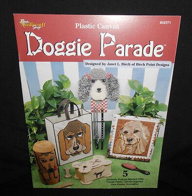 Needlecraft Shop DOGGIE PARADE Plastic Canvas Pattern Leaflet Dog Accessories