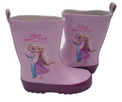 Chicas Wellington Botas Disney Infinity Frozen Elsa & Rapunzel logotipo