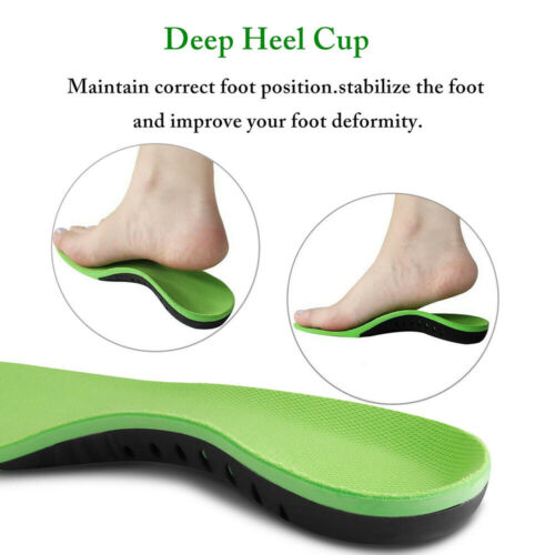 Orthotic Insoles Flat Foot High Arch Heel Support Plantar Feet Inserts Pads