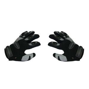 Paire-de-gants-moto-enduro-motocross-taille-S-gris-noir