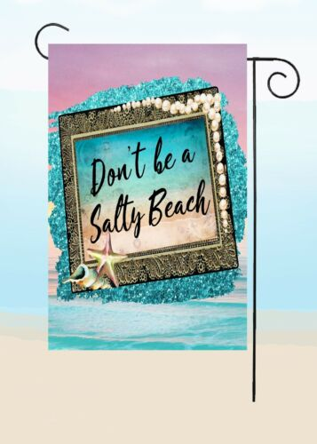 By Flags Galore Double Sided Garden Flag  Top Quality SALTY BEACH