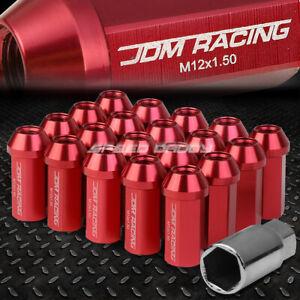20 PCS CLOSED END M12X1.25 35MM TALL 25MM OD PINK ALUMINUM JDM LUG NUTS+ADAPTER