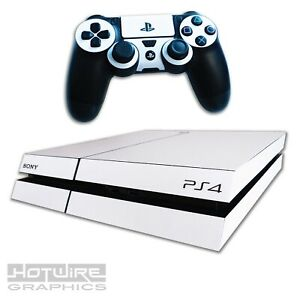 Playstation-4-PS4-Skin-Sticker-Kit-Pure-WHITE-Fresh-Scratch-Resistant-Cover