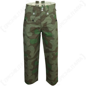 WW2-German-M40-Splinter-Camo-Trousers-Repro-Army-Military-Solider-Pants-Heer