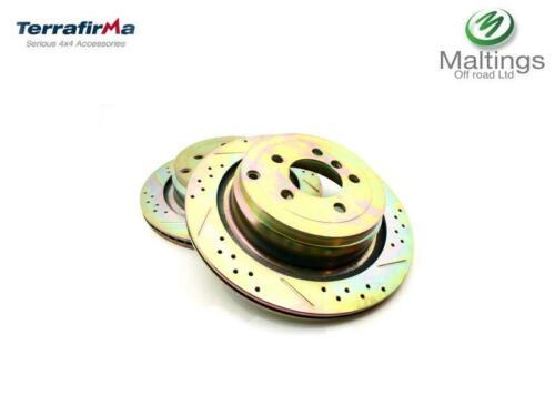 grooved brake discs rear 4.2sc 3.6 5.0V8 range rover L322 performance drilled