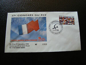 FRANCE-enveloppe-21-12-1990-27e-congres-du-PCF-cy7-french-R