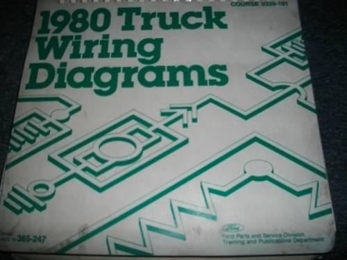1980 Ford F100 F150 F250 F350 Wiring Diagrams Manual