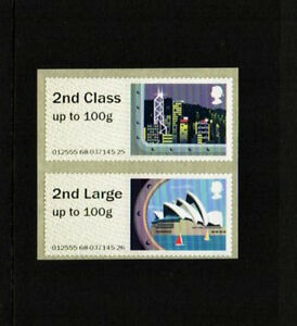 ERRORS SEA TRAVEL 2nd CLASS/2nd CLASS LARGE PAIR STRIP NCR Post & Go