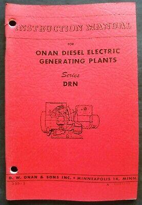 Light Equipment & Tools Onan Electric Generating Plant Instruction ...