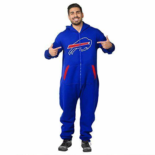 72d7ceec Forever Collectibles NFL Unisex Buffalo Bills Logo Jumpsuit, Blue