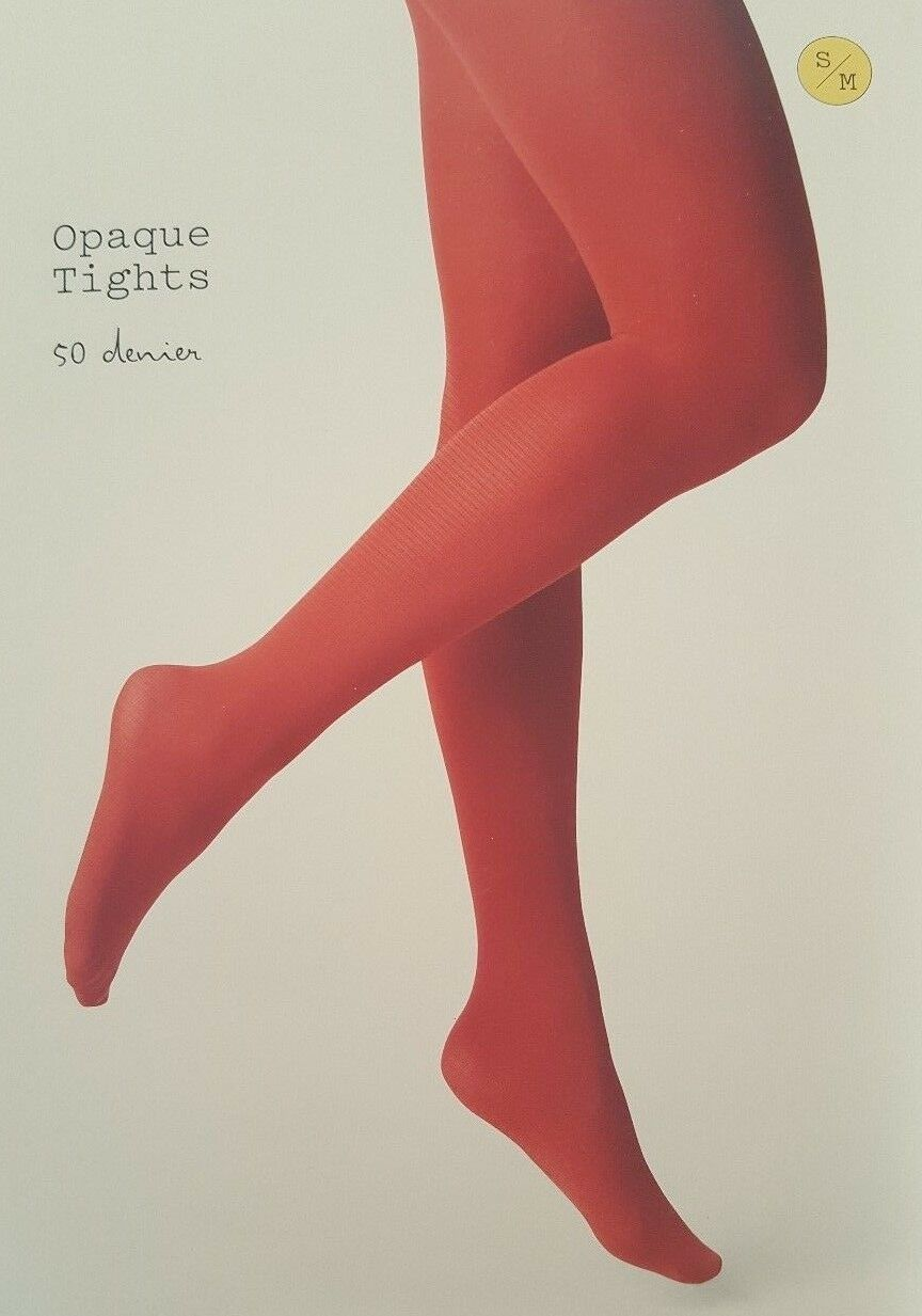 48a91556360 Opaque Tights Salsa Red S m Target a Day Hosiery Women Nylon Spandex ...