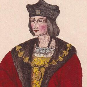 beaucoup de choix de caractéristiques exceptionnelles 2019 meilleures ventes Détails sur Charles VIII Charles l'Affable Valois Expédition d'Italie Anne  de Bretagne