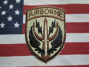 Details about US ARMY Special Operations Command Central Airborne SOCCENT  Desert DCU patch c/e