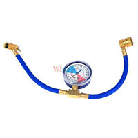 Newest R-134a Recharge Measuring Hose Gauge System Refrigerant Charging Pipe