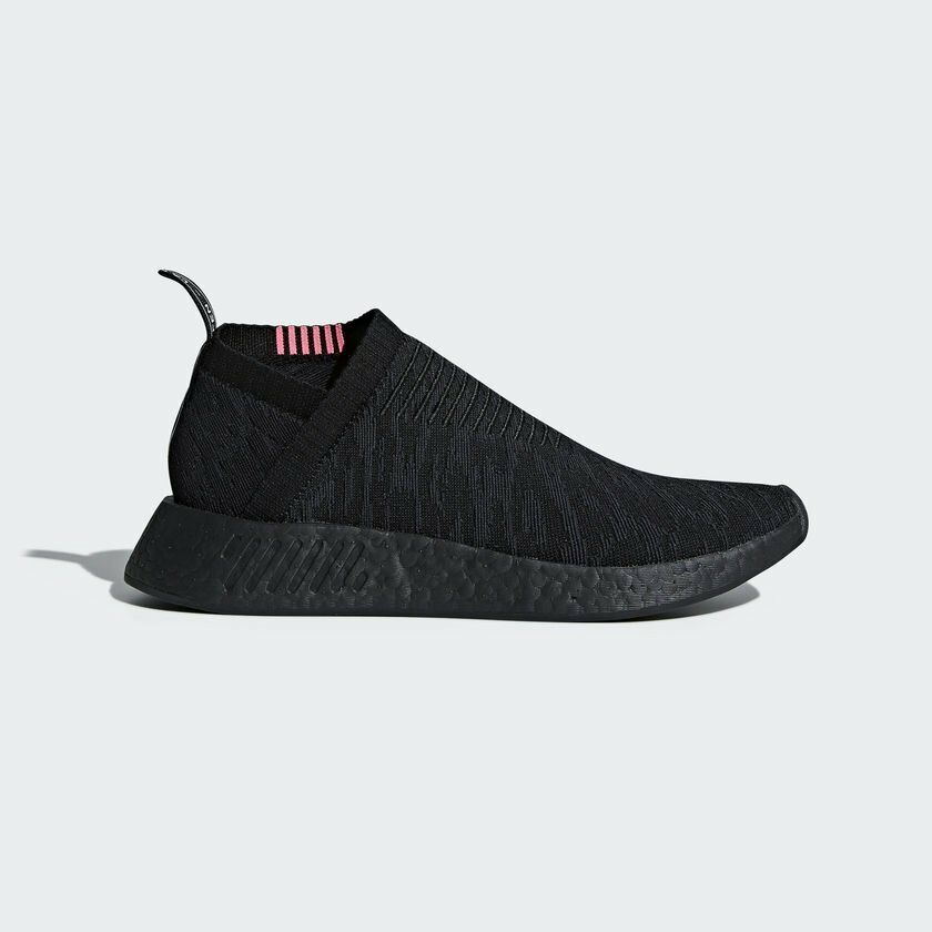 BA7187 Adidas NMD CS2 Primeknit Men Shoes GreyWhitePink