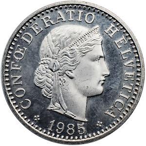 20 Rappen 1985 Switzerland coin Helvetia B (Bern) combined shipping