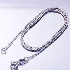 "Trendy White Gold Filled snake bone Chain Necklace For Women Gift 17.7"" Long"