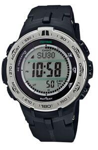 Casio Pro Trek * PRW3100-1 Triple Sensor Ver3 Solar Multiband Black COD PayPal