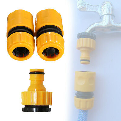 3Pcs Garden Water Hose Pipe Tap Connector Connection Adapters Quality F0Y8