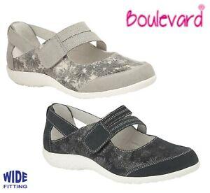 LADIES WIDE FIT EEE Summer Bar Shoes