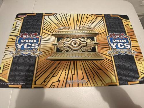 NEW 200th YCS Yugioh Championship Series Playmat Mat Mouse Pad Gold Sarcophagus