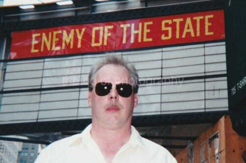 ENEMY OF THE STATE Vintage FOUND PHOTOGRAPH Color FREE SHIPPING Original 94 13 B
