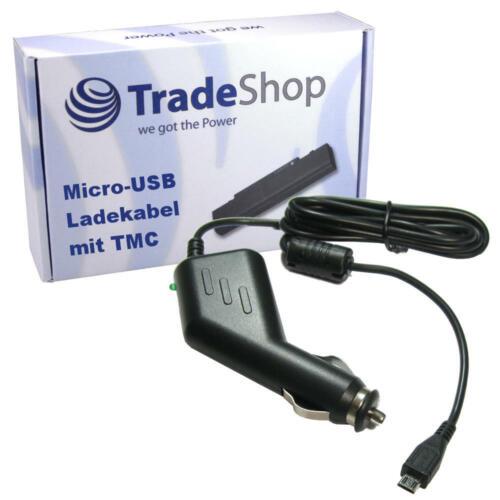 RDS tmc antena con micro USB 2a rápidamente cargador para coche 12v