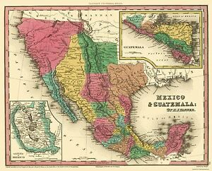 image is loading old north america map mexico and guatemala tanner