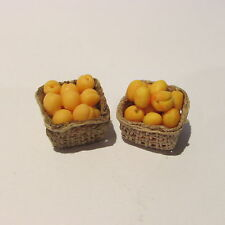 APRICOTS in box ~ PAIR ~ Doll House Miniature Food ~ 1/12 scale