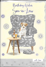 Y6 NEPHEW BIRTHDAY CARD****DOGS DOG***CUTE***1ST CLASS POST