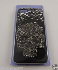 for Iphone 5  phone case black plastic fancy skull crystal bling day of the dead