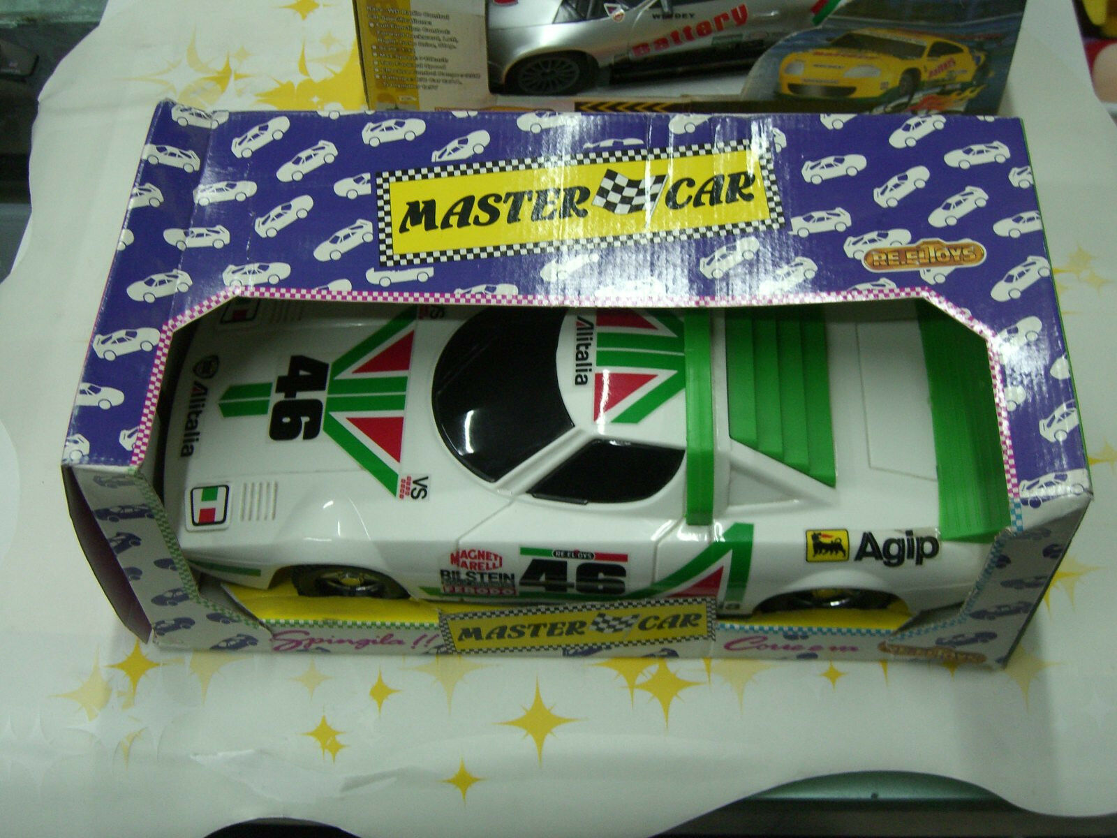 80'S VINTAGE FRICTION POWErot 1 10 CAR LANCIA STRATOS ALITALIA RE.EL TOY ITALIAN