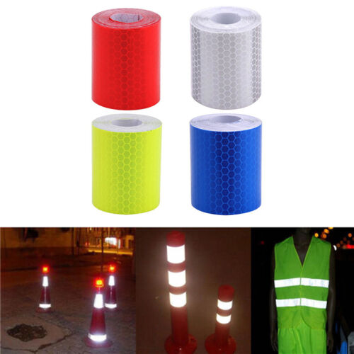 5cm*3M Night Reflective Safety Warning Tape Film Truck Auto Car Sticker 4 Colors