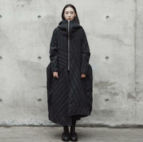 Padded Oversize Big Parka Punk Y632 Stripe Gothic Overjassen Winter Hooded Women CrxBodWe