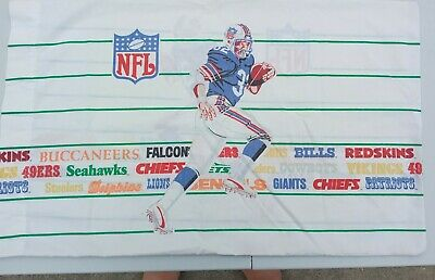Vintage Nfl Football Team Name Logo Pillow Case Standard Size Oilers Patriots Ebay