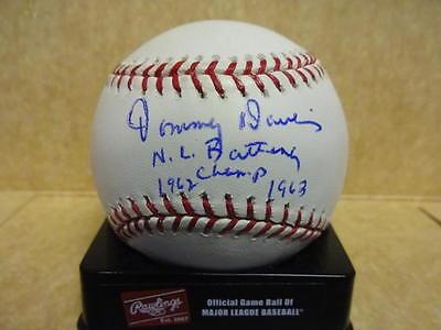 Sports Mem, Cards & Fan Shop Careful Tommy Davis Nl Batting Champ 1962 1963 Signed N.l Baseball W/coa Clear And Distinctive